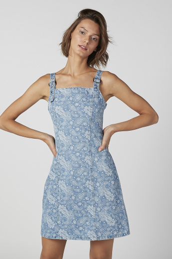 Lee Cooper Denim Pinafore Dungaree Dress with Pocket Detail