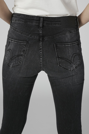 Lee Cooper 5-Pocket Jeans with Frayed Hems