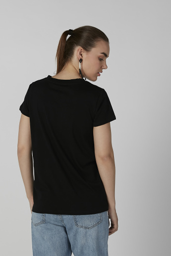 Sustainable Lee Cooper Printed T-shirt with Round Neck