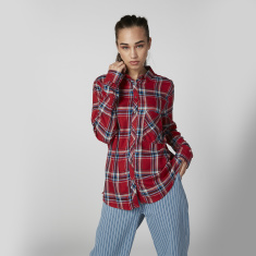 Lee Cooper Chequered Shirt with Long Sleeves and Chest Pocket