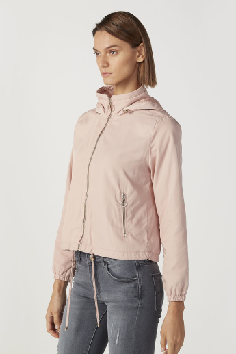 Lee Cooper Plain Jacket with Long Sleeves and Kangaroo Pockets