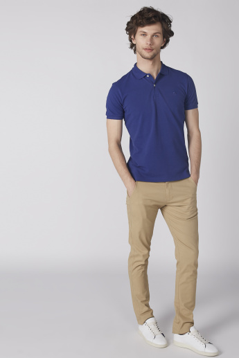 Bossini T-Shirt with Polo Neck and Short Sleeves