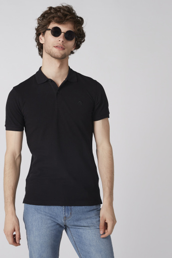 Bossini Polo Neck T-Shirt with Short Sleeves