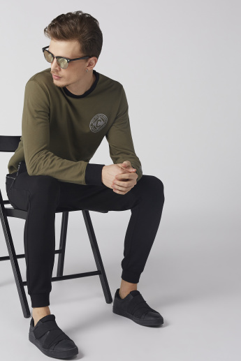 Bossini Printed Sweatshirt with Crew Neck and Long Sleeves