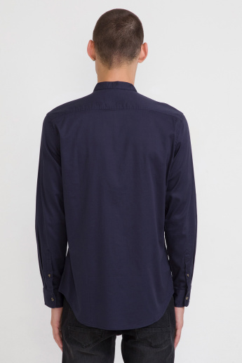 Bossini Long Sleeves Shirt with Mandarin Collar and Complete Placket