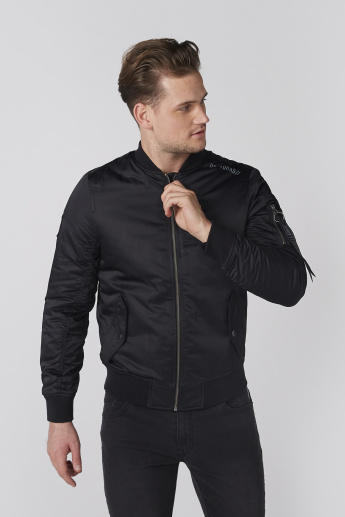 Bossini Biker Jacket with Pocket Detail and Zip Closure