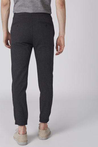 Bossini Textured Full Length Pants with Pocket Detail and Drawstring
