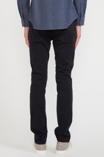 Bossini Full Length Jeans with Pocket Detail and Button Closure