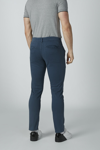 Lee Cooper Solid Chinos  with Pocket Detail