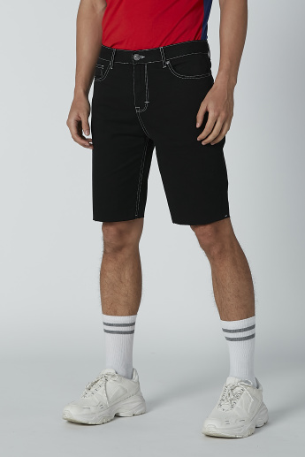 Lee Cooper Stitch Detail Shorts with Pockets