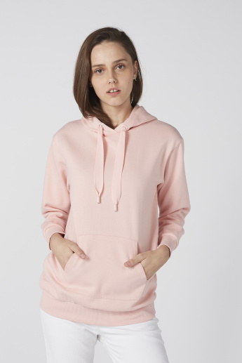 Bossini Long Sleeves Sweatshirt with Hood and Pocket Detail