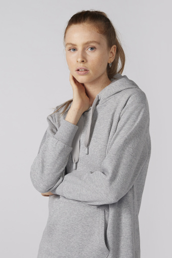 Bossini Long Sleeves Sweatshirt with Pocket Detail and Hood