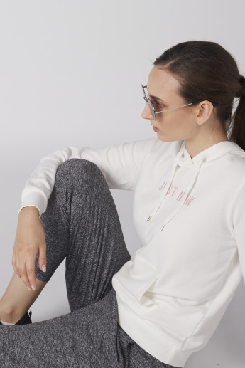 Bossini Long Sleeves Embroidered Sweatshirt with Pocket Detail