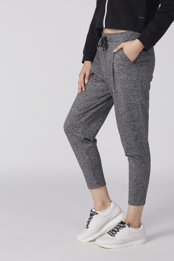 Bossini Textured Pants with Pocket Detail and Drawstring