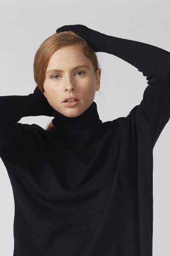 Bossini High Neck Sweater with Long Sleeves
