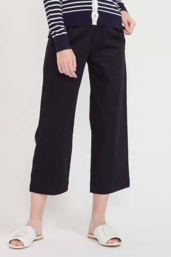 Bossini Pocket Detail Culottes with Button Closure