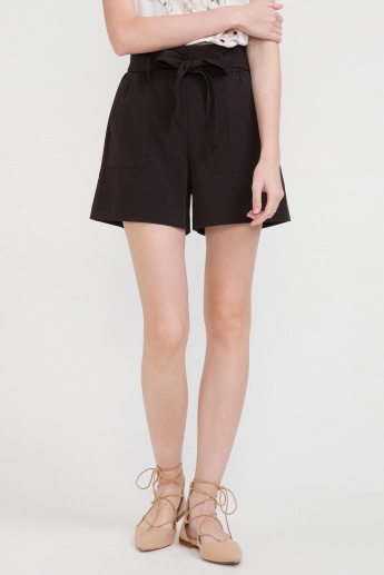 Bossini Pocket Detail Shorts with Tie Up Belt