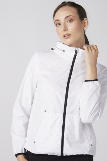 Bossini Printed Jacket with Zip Closure and Hood