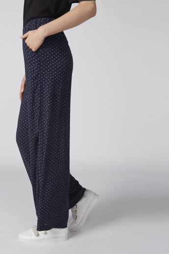 Bossini Printed Palazzo Pants with Elasticised Waistband