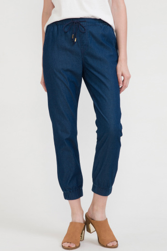 Bossini Pocket Detail Jeans with Elasticised Hem and Drawstring