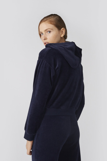 Bossini Textured Jacket with Zip Closure and Hood