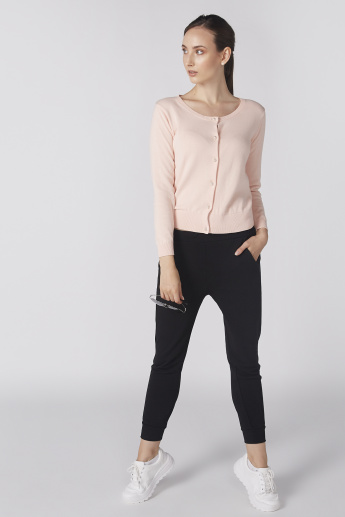 Bossini Long Sleeves Cardigan with Round Neck and Complete Placket