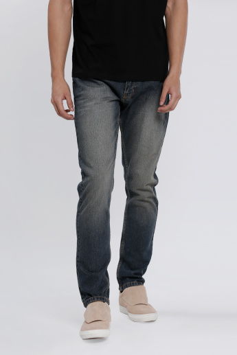 Full Length Jeans with Pocket Detail in Slim Fit