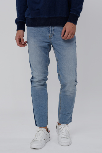 Sustainability Full Length Jeans with Pocket Detail