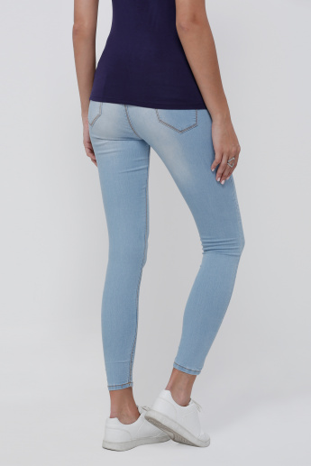 Denim Jeggings with Elasticised Waistband