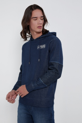 Sweat Top with Hood and Long Sleeves