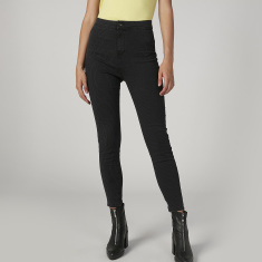 Sustainability Skinny Fit Striped Mid Waist Jeans with Pockets
