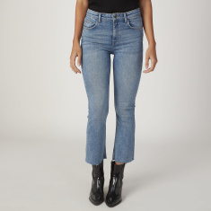 Sustainability Full Length Plain Jeans with Pocket Detail