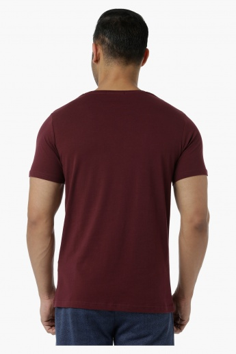Cotton T-Shirt with Crew Neck and Graphic Print in Slim Fit