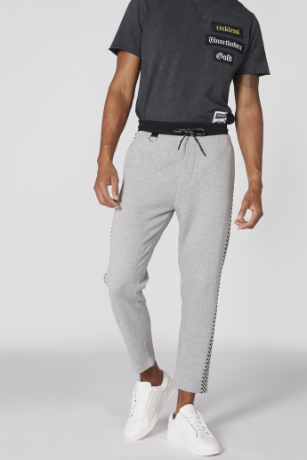 Full Length Pants with Tape Detail and Drawstring
