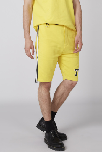 Tape and Pocket Detail Shorts with Elasticised Waistband