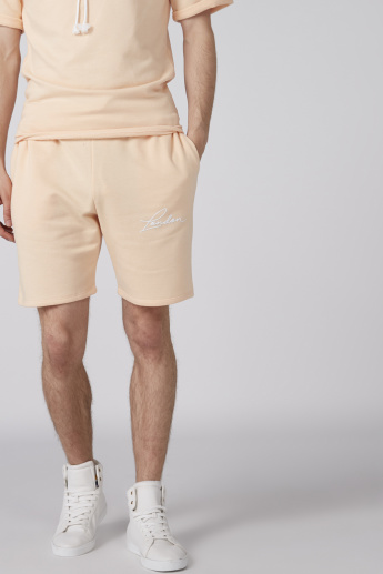 Printed Shorts with Elasticised Waistband and Pocket Detail