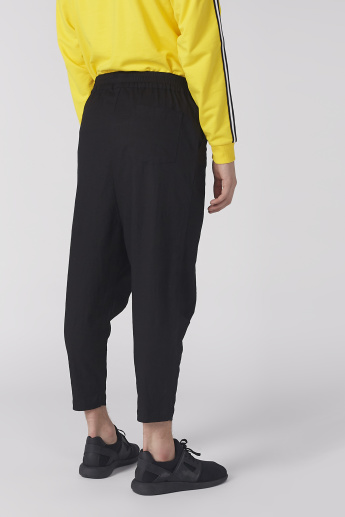 Ankle Length Pants with Elasticised Waistband and Pocket Detail