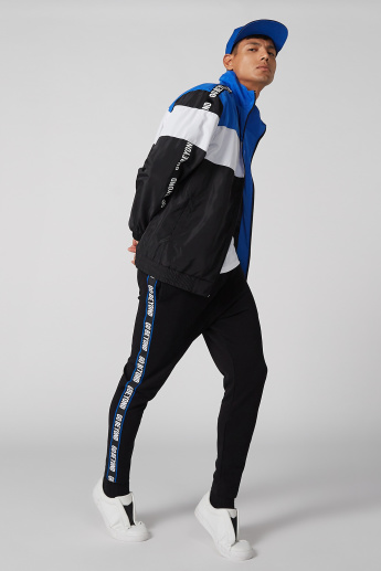 Pocket Detail Jog Pants with Drawstring and Printed Tape Detail