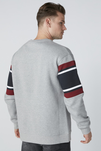 Textured Sweatshirt with Round Neck
