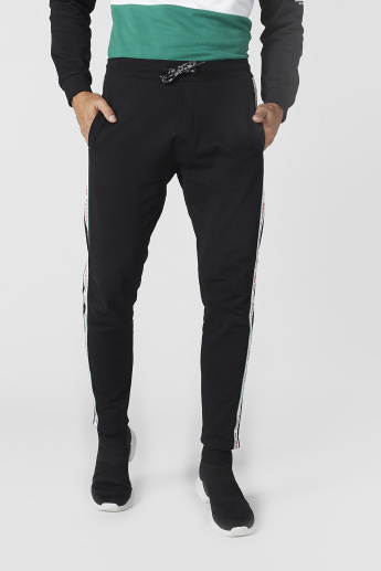 Pocket Detail Jog Pants with Side Tape Print