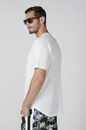 Textured T-Shirt in Relaxed Fit with Short Sleeves