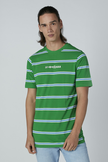 Striped T-Shirt in Relaxed Fit with Round Neck and Short Sleeves