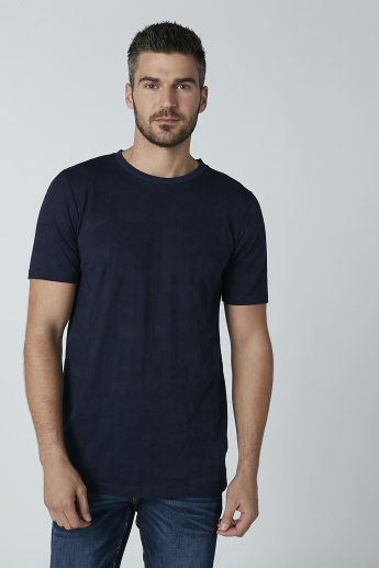 Round Neck Plain T-shirt with Short Sleeves