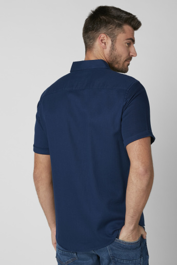Short Sleeves Shirt with Complete Placket