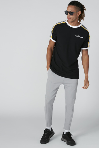 Plain Mid-Rise Trousers with Pocket Detail and Drawstring Closure