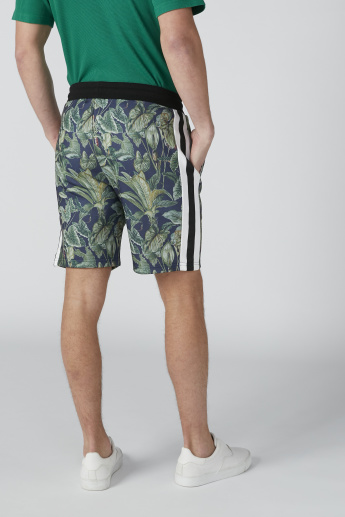 Printed Shorts in Relaxed Fit with Pocket Detail and Drawstring