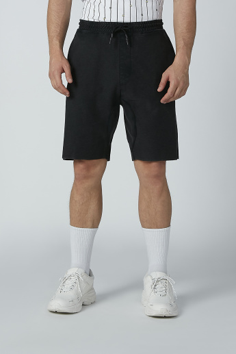Basic Shorts with Pocket Detail and Drawstring
