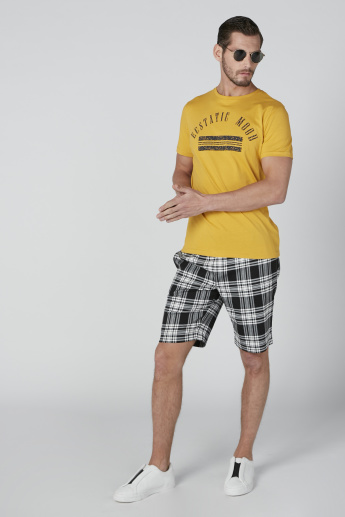Chequered Shorts with Pocket Detail and Drawstring