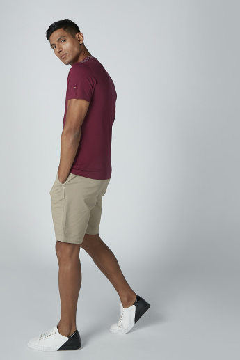Plain Shorts with Pocket Detail and Drawstring Closure