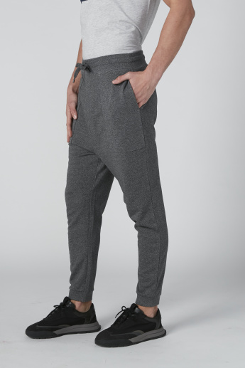 Plain Jog Pants with Pocket Detail and Drawstring
